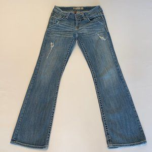 BKE Buckle Bootcut Distressed Culture Jeans